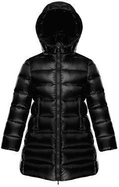 Moncler Suyen Hooded Long Puffer Coat, Black, Sizes 8-14 $660 thestylecure.com