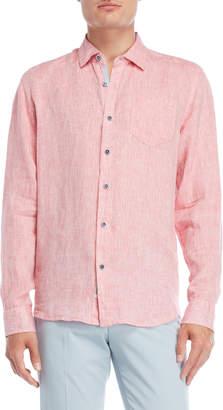 Perry Ellis Long Sleeve Linen Shirt