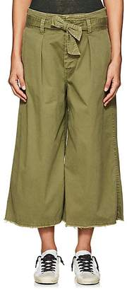 Nili Lotan Women's Ellie Cotton-Blend Drop-Rise Culottes