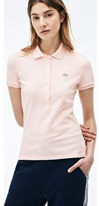 Lacoste Women's Classic Short Sleeve Slim Fit Stretch Pique Polo