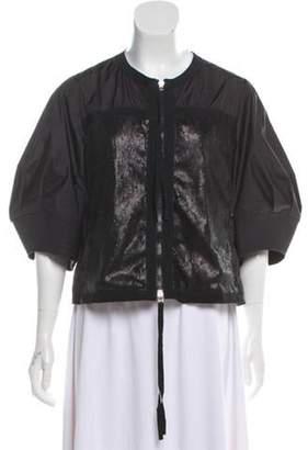 Moncler Lightweight Embellished Jacket Black Lightweight Embellished Jacket