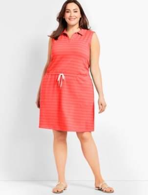 Talbots Mini Terry Drawstring Dress