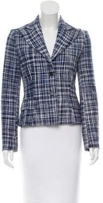 Dolce & Gabbana Tweed Plaid Blazer w/ Tags