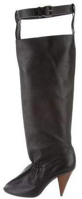 Celine Leather Thigh-High Boots