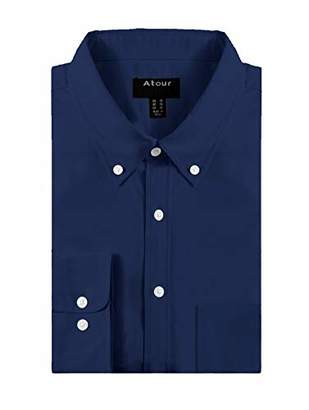 YTUIEKY Men's Dress Shirt - Long Sleeve Button Up Shirts Non-Iron Dress Shirt 102% Cotton Shirts for Men - Formal Business Casual XL