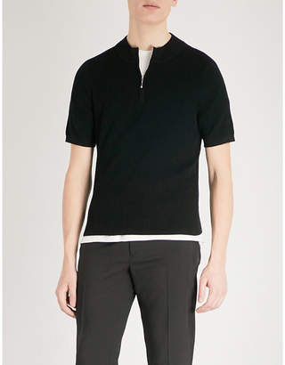 Sandro Ribbed-knit cotton-jersey jumper