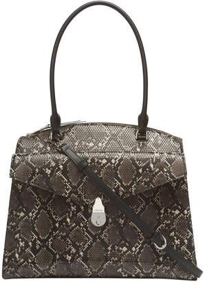 Calvin Klein Lock Medium Leather Satchel