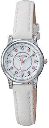 Croton [クロトン 日本製3針クォーツ レディース腕時計 RT-170L-D ホワイトカーフバンド