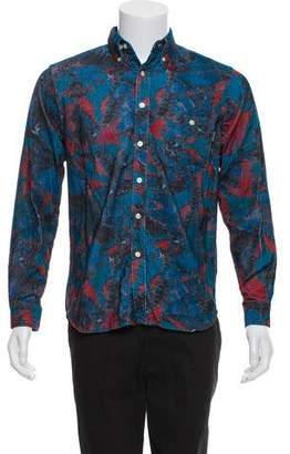 Palace Skateboards Velvet Printed Button-Up Shirt w/ Tags