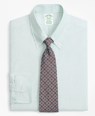 Brooks Brothers Original Polo Button-Down Oxford Milano Slim-Fit Dress Shirt, Candy Stripe