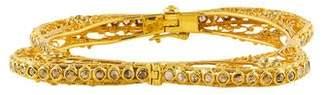 Loren Jewels 18K Diamond Square Bangle