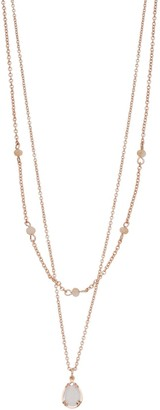 Lauren Conrad Double Strand Oval Pendant Necklace