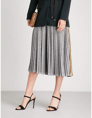 Philosophy di Lorenzo Serafini Metallic pleated midi skirt