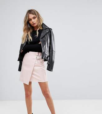 Missguided Vinyl Buckle Strap Mini Skirt