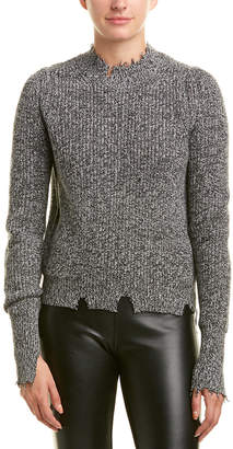Helmut Lang Distressed Wool-Blend Sweater