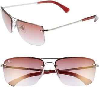 Ray-Ban 61mm Rimless Navigator Sunglasses