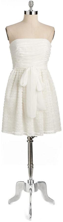 Jill Stuart JILL Strapless Chiffon Dress