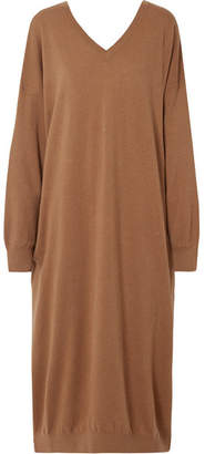 Stella McCartney Oversized Wool And Alpaca-blend Dress - Light brown