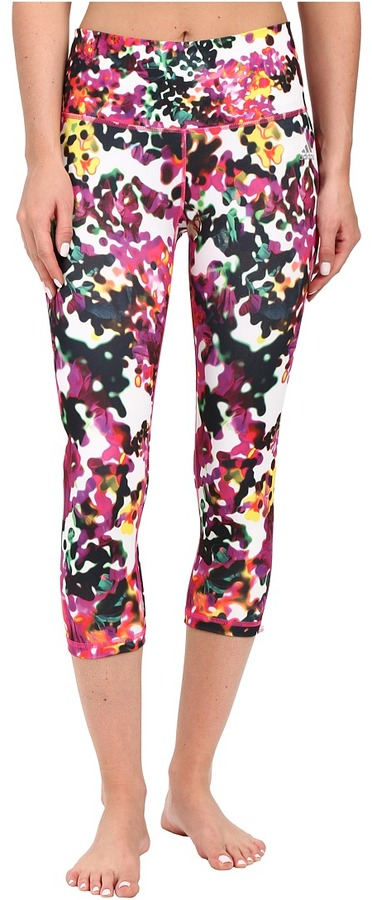 adidas Performer High-Rise 3/4 Tights - Floral Explosion Print
