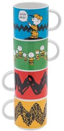 Vandor LLC Peanuts 4 pc. Stacking Ceramic Mug Set