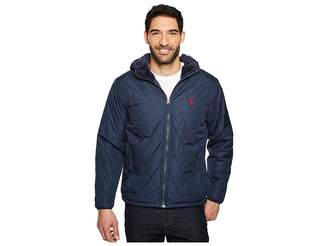 U.S. Polo Assn. Diamond Quilted Hooded Jacket Men's Coat