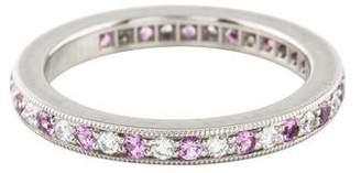 Tiffany & Co. Platinum Diamond & Pink Sapphire Legacy Eternity Ring
