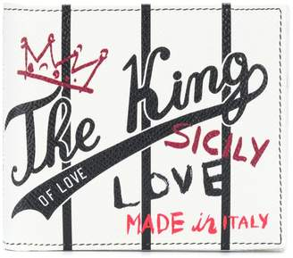 Dolce & Gabbana King print billfold wallet
