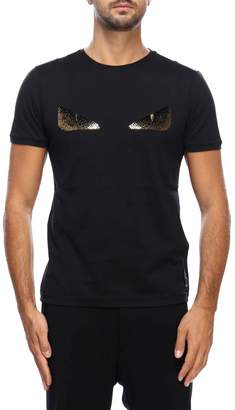 cf4efbe9220f Fendi T-shirt Monster Eyes Chocker T-shirt In Cotton Jersey With Sequined  Maxi