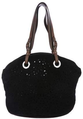 Marni Perforated Suede Tote