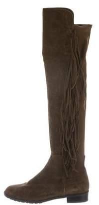 Stuart Weitzman Fringe Over-The-Knee Boots