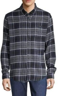 Ezekiel Nirvana Plaid Button-Down Shirt