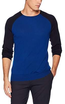 Calvin Klein Men's Merino Tipped Crew Neck Sweater