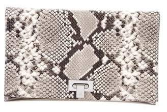 Tory Burch Embossed Leather Flap Clutch