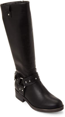Madden-Girl Black Mckenzie Harness Tall Boots