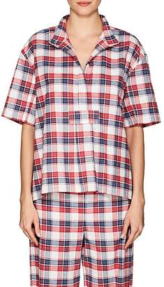 The Sleep Shirt Women's Plaid Cotton Flannel Pajama Top