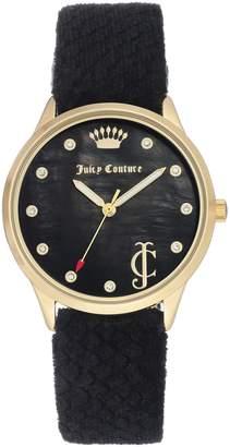 Juicy Couture Black Velvet Strap Watch
