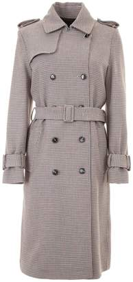 Closed Houndstooth Coat