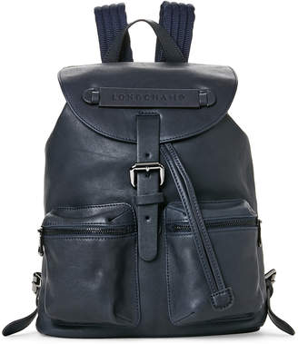 Longchamp Navy 3D Small Leather Backpack
