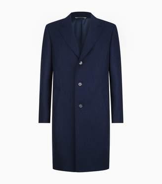 Canali Wool Longline Overcoat