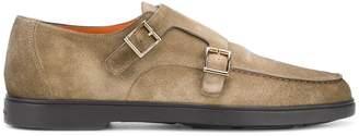 Santoni side buckle monk shoes