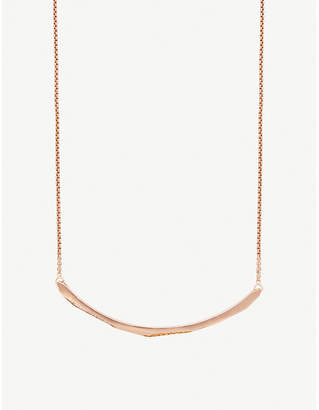 Kendra Scott Graham 14ct rose gold-plated and cubic zirconia choker necklace