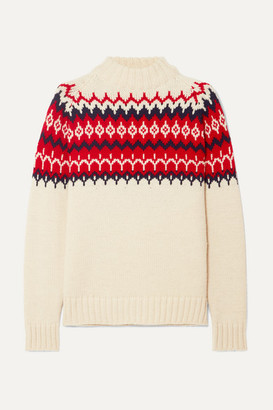 &Daughter - Bansha Fair Isle Wool Sweater - Cream