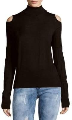 Vince Solid Cold-Shoulder Sweater