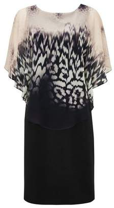 Wallis Black Animal Print Overlay Dress