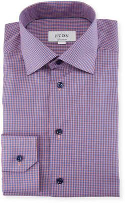 Eton Micro-Check Dress Shirt