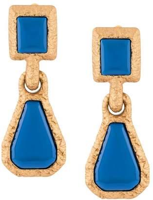 Marni bordered drop earrings