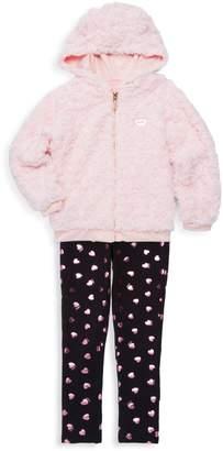Juicy Couture Little Girl's 2-Piece Faux Fur Jacket & Leggings Set