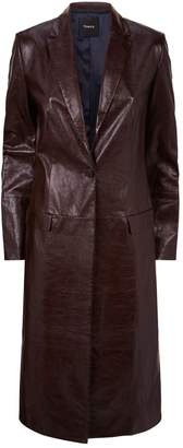 Theory Longline Leather Coat