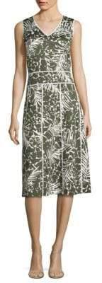Lafayette 148 New York Emlia Palm-Print Dress
