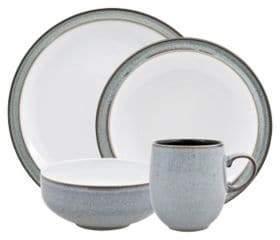 Denby Four-Piece Two-Tone Dinnerware Set